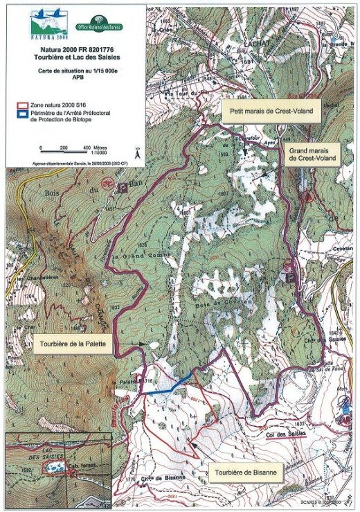 Carte de localisation de la zone Natura 2000